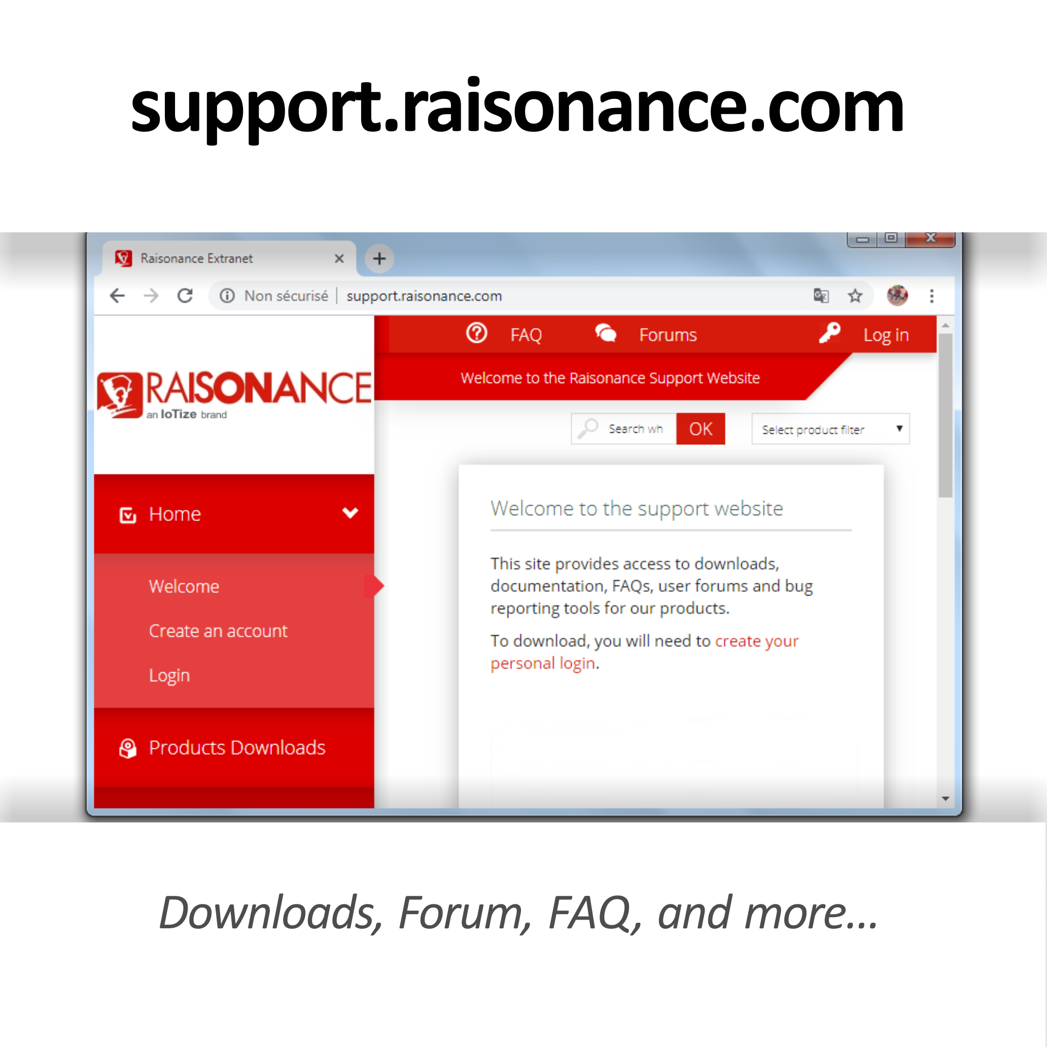 Raisonance Support Site