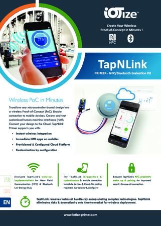 TapNLink Primer NFC, BLE Evaluation Kit