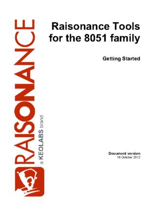 Raisonance Tools for 8051 families
